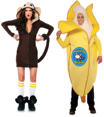 Couple Monkey and Banana